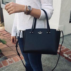 Kate Spade black crossbody satchel bag